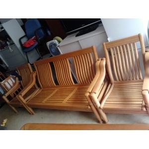 8成新实木沙发3+1+1+2五件套