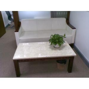 9成新白色真皮办公沙发